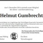 Feuerwehr Germersheim trauert um Alterskamerad
