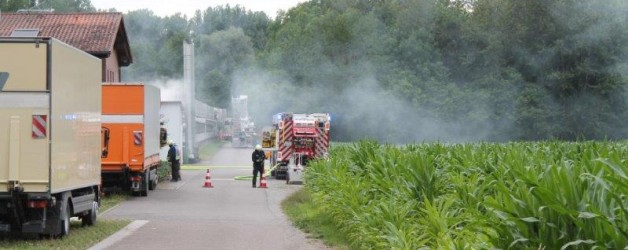 Inszenierter Brand in Großgärtnerei