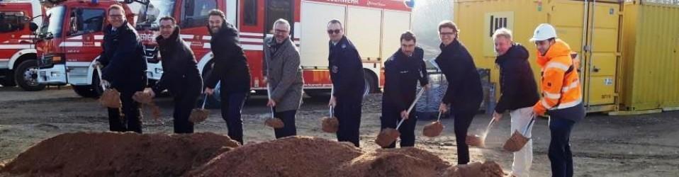 Spatenstich bei der Feuerwehr Germersheim