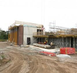 Zügiger Baufortschritt im September…