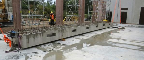 Stahlbetonträger für die Fahrzeughalle