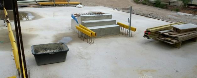 Eine Treppe entsteht